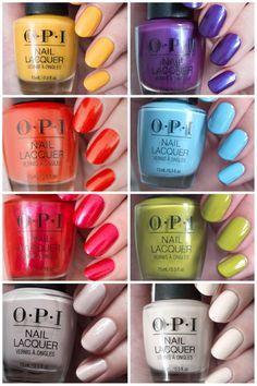 Opi Nail Polish Colors, Summer Nail Polish, Summer Gel Nails, Nail Polish Brands, New Nail Polish, Opi Nails, Fancy Nails, Trendy Nails, Nail Lacquer