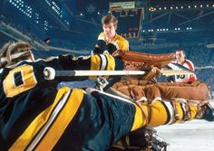 siphotos: Bobby Orr helps clear a puck during a 1970 Bruins-Flyers game. (John G. Zimmerman/SI) GALLERY: Classic Photos of Bobby Orr