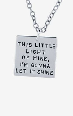 Sterling Silver Square Charm Necklace