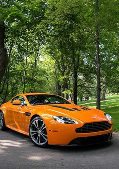 Orange Aston Martin