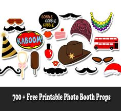 700+ Free Printable Photo Booth Props