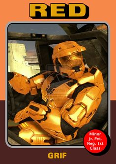 Red vs Blue Fan Art: Grif by CorSecAgent... I love the Grifball game:) u get to turn into Grif when u get the ball :)