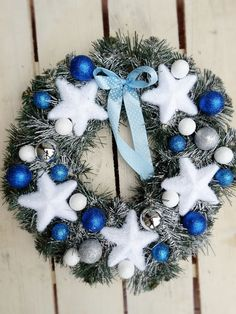 A Large Christmas Wreath Front Door Wreath Winter by MDECOR1979