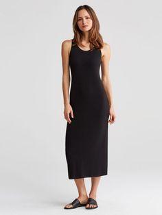 Eileen Fisher Viscose Jersey System Tank Dress