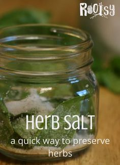 Herbs are easy to grow and produce quite a bit, however, they don& grow year round. Herb salt is a wonderful way to preserve your herb harvest. Learn how to make endless herbal salt combinations today. Spice Blends, Spice Mixes, Herbs For Health, Cancer Fighting Foods, Grow Your Own Food, Growing Herbs, Preserving Food, Real Food Recipes, Frugal Recipes