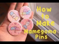 ▶ How to Make Resin Domed Mamegoma Pins - YouTube