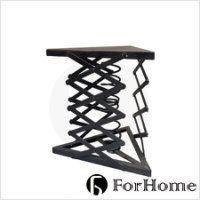 [ ForHome ] TA-087 LOFT 工業風 法國 復古 倉庫風  鐵件三角彈簧茶几 咖啡桌  邊几