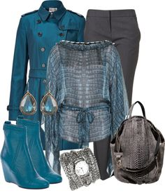 """""""Feeling Blue over Newtown"""" by fantasy-closet ❤ liked on Polyvore"""