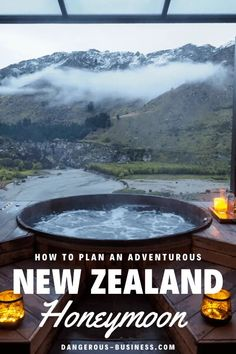 Thinking about planning a honeymoon to New Zealand? Here are some tips for how to mix both romance and adventure. Here's your New Zealand honeymoon bucket list: everything from wine tasting to to bungee jumping to soaking in thermal pools included! Honeymoon Night, Honeymoon Tips, Romantic Honeymoon, Honeymoon Vacations, Honeymoon Places, Vacation Travel, Travel Packing, Honeymoon In New Zealand, New Zealand Travel