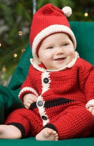Infant Santa Suit :: Free Holiday #Crochet Patterns for Babies!