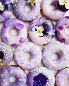 Purple beauties 💜(📸: @vickiee_yo) Doughnuts, Desserts, Food, Tailgate Desserts, Deserts, Eten, Postres, Hoods, Meals