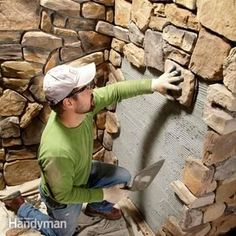 How to Build a DIY Fire Pit — The Family Handyman Rustic Fireplaces, Stone Veneer Fireplace, Diy Fireplace, Brick Fireplaces, Home Repairs, Stone Work, Home Projects, Home Improvement, New Homes