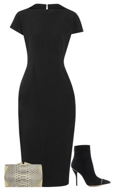"""""""Untitled #3387"""" by injie-anis ❤ liked on Polyvore featuring Rick Owens, Paul Andrew and Roland Mouret"""