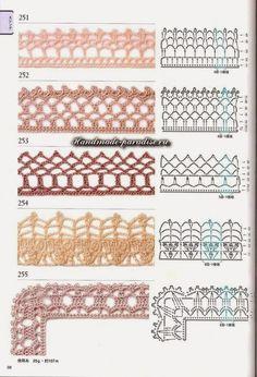 Схемы мотивов для пледа крючком