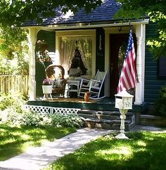Quaint cottage porch.