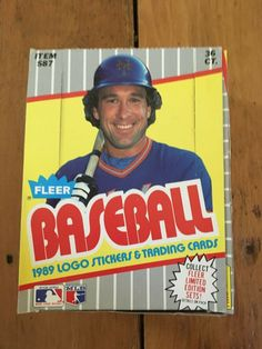 36 Count MLB Fleer Wax Packs in a 1989 Baseball Cards Display Case NEW Baseball Card Displays, Baseball Cards, Gary Carter, Logo Stickers, Display Case, Trading Cards, My Ebay, Counting, Mlb