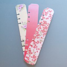 A5 Filofax pagemarkers set of 3 by JustKeepPinning on Etsy