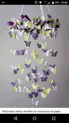 Purple butterfly ceiling craft