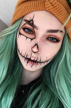39 Sexy Halloween Make-up Looks, die gruselig und doch süß sind- Hübsche Ha. 39 Sexy Halloween Makeup Looks That Are Creepy And Yet Sweet - Pretty Halloween Makeup Ideas You. Beautiful Halloween Makeup, Cute Makeup, Pretty Makeup, Cheap Makeup, Beauty Makeup, Halloween Zombie Makeup, Halloween Makeup Looks, Scary Halloween, Halloween Costumes