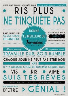 beau tableau Positive Mind, Positive Attitude, Positive Thoughts, Positive Vibes, Positive Quotes, Motivational Quotes, Inspirational Quotes, Quote Citation, French Quotes