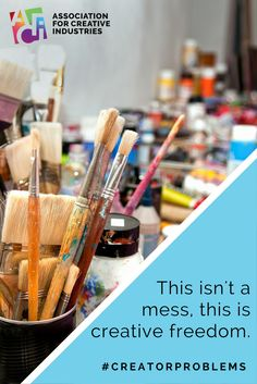 This isn't a mess, this is creative freedom. #creatorproblems