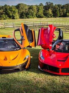 Mc Laren P1 and Ferrari Laferrari