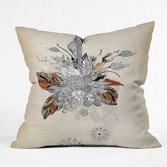 Iveta Abolina Floral 2 Throw Pillow   DENY Designs Home Accessories