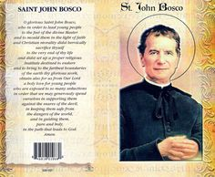 the life of saint john bosco an outstanding teacher and father to the young St john bosco, or, as he is commonly called, don bosco ('don' means father), was born at becchi, italy, on august 16, 1815 his father died when he was two and his childhood and first years of study were filled with difficulties that include supporting himself while attending school.