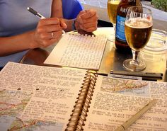 I want to travel, drink beer and write about what we saw in a beautiful travel journal