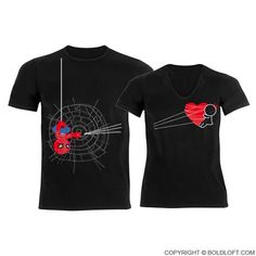 You ve Captured My Heart™ His   Hers Matching Couple Shirts Black Regalos De 4889dd3870923