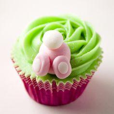 Bunny Bottom Cupcake