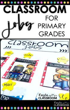 Classroom Job Chart For Primary Grades - Kindergarten Kindergarten Classroom Jobs, Classroom Jobs Board, Classroom Jobs Display, Apple Classroom, First Grade Classroom, Primary Classroom, Classroom Decor, Student Job Chart, Student Jobs
