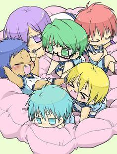 adorable, anime, chibi, cute, funny, kawaii, kise ryouta, kuroko no basuke, kuroko tetsuya, nap, sleeping, akashi seijuurou, midorima shintarou, aomine daiki, murasakibara atsushi