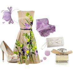 Spring wedding guest outfit - Polyvore