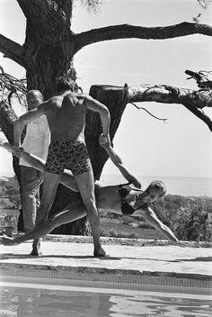 """Romy Schneider & Alain Delon sur le tournage de """"La Piscine"""" (Jacques Deray, 1969)"""