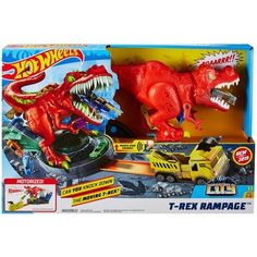Hot Wheels T-Rex Rampage Playset : Target Toddler Christmas Gifts, Toddler Gifts, Christmas Decor, Carros Hot Wheels, Mattel, Save The Day, Funny Animal Videos, T Rex, Legos