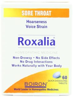 Great for overused, tired, inflammed voices. Homeopathic remedy that reduces vocal cord swelling. http://www.amazon.com/Boiron-Homeopathic-Medicine-Roxalia-60-Count/dp/B001GCU0WY/ref=sr_1_1?s=hpc&ie=UTF8&qid=1379498143&sr=1-1&keywords=roxalia