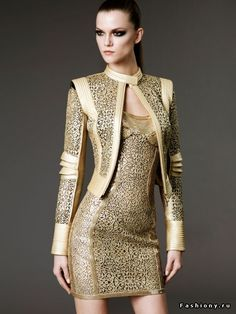 Versace filigree jacket and dress, armor-inspired | Keep the Glamour | BeStayBeautiful