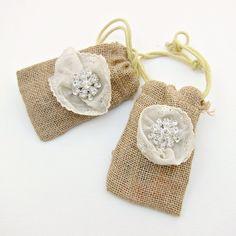 DIY Burlap & Bling Favor Bags