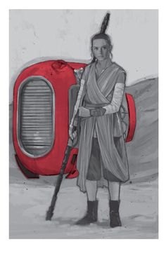 Star Wars: Episode VII - The Force Awakens - Rey,... - Art Vault