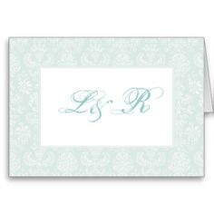 Antique Embroidered Damask Wedding Thank You Cards