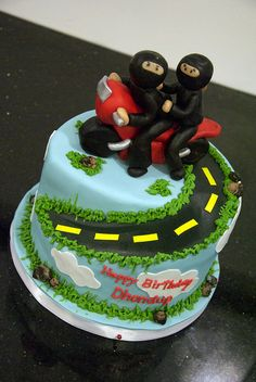 ninja motorcycle cake by www.fortheloveofcake.ca, via Flickr
