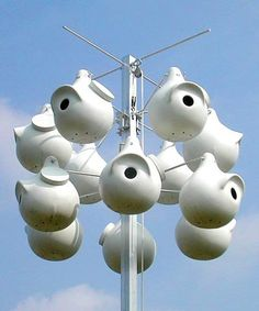 Bird Abodes Purple Martin SuperGourd System with 12 Round Entry Gourds -- Details on product can be viewed by clicking the image
