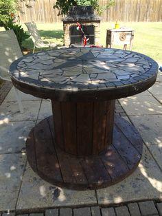 Tiled Spool Table #MadeByColtSkinner