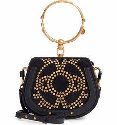 Main Image - Chloé Small Nile Bracelet Studded Leather Crossbody Bag