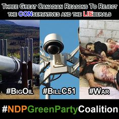 3 Great #Canadian Reasons... #canpoli #NDPGreenPartyCoalition