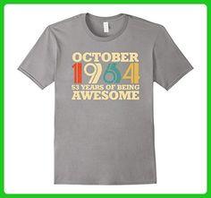 Mens October 1964 Birthday T-Shirt 53th birthday Shirt Small Slate - Birthday shirts (*Amazon Partner-Link)