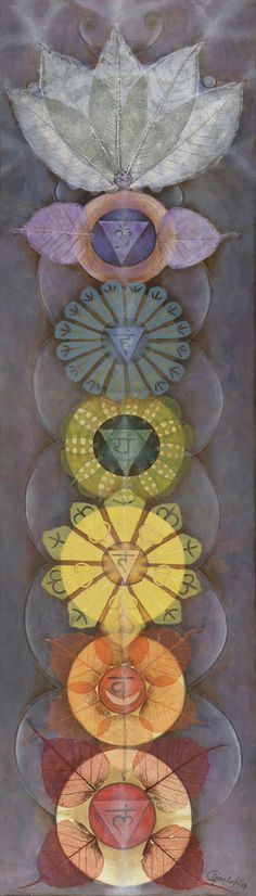 I think this Chakra painting has a very special Energy and a beautiful design. Knowing about your personal Energy system of seven main Chakras, and understanding how to open them up and keep the Universal Energy flowing is one of the most important things that each person needs to know.