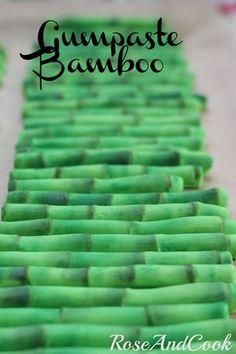 Gumpaste Bamboo http://roseandcook.canalblog.com/archives/2012/10/22/25390595.html