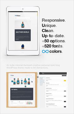 WordPress - Thinn - Personal WordPress Theme | ThemeForest  #wordpress #premium #theme #responsive #flatdesign #webdesign #design #graphicdesign #template